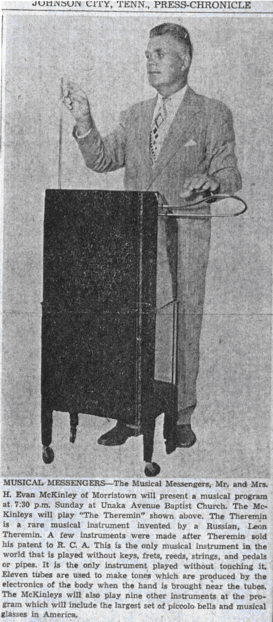 Man playing Theremin